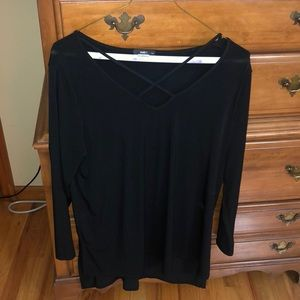 Black criss-cross tunic